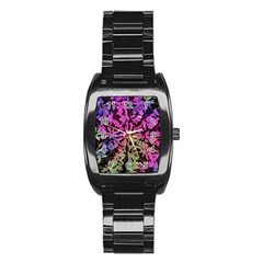 Artistic Cubes 5 Stainless Steel Barrel Watch