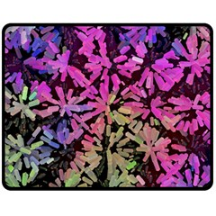 Artistic Cubes 5 Double Sided Fleece Blanket (Medium)