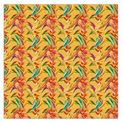 Abstract Hummingbird Pattern Large Satin Scarf (Square)
