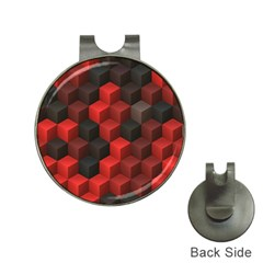 Artistic Cubes 7 Red Black Hat Clips with Golf Markers