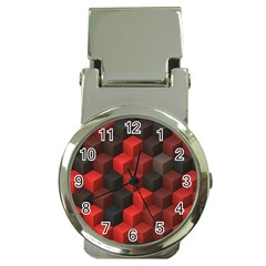 Artistic Cubes 7 Red Black Money Clip Watches