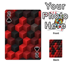 Artistic Cubes 7 Red Black Playing Cards 54 Designs