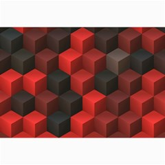 Artistic Cubes 7 Red Black Collage 12  x 18