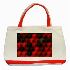 Artistic Cubes 7 Red Black Classic Tote Bag (Red)