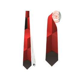 Artistic Cubes 7 Red Black Neckties (One Side)
