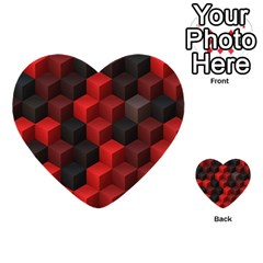 Artistic Cubes 7 Red Black Multi Purpose Cards (heart)