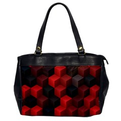 Artistic Cubes 7 Red Black Office Handbags