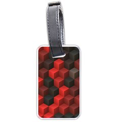 Artistic Cubes 7 Red Black Luggage Tags (Two Sides)