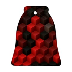 Artistic Cubes 7 Red Black Bell Ornament (2 Sides)