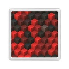 Artistic Cubes 7 Red Black Memory Card Reader (Square)