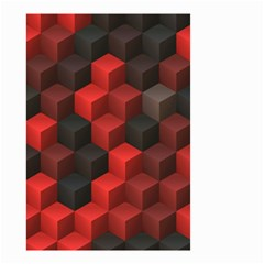 Artistic Cubes 7 Red Black Small Garden Flag (Two Sides)