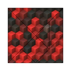 Artistic Cubes 7 Red Black Acrylic Tangram Puzzle (6  x 6 )