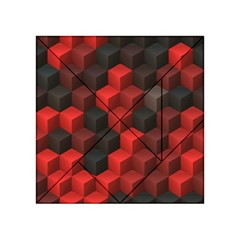 Artistic Cubes 7 Red Black Acrylic Tangram Puzzle (4  X 4 )