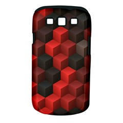 Artistic Cubes 7 Red Black Samsung Galaxy S III Classic Hardshell Case (PC+Silicone)