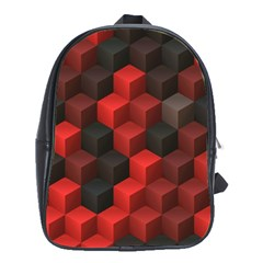 Artistic Cubes 7 Red Black School Bags (XL)
