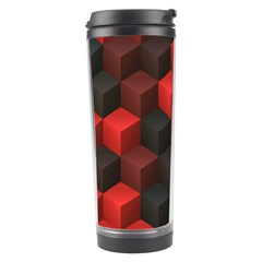 Artistic Cubes 7 Red Black Travel Tumblers