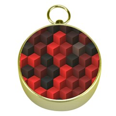 Artistic Cubes 7 Red Black Gold Compasses