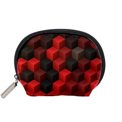 Artistic Cubes 7 Red Black Accessory Pouches (Small)