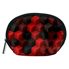 Artistic Cubes 7 Red Black Accessory Pouches (medium)
