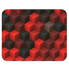 Artistic Cubes 7 Red Black Double Sided Flano Blanket (Medium)