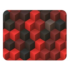 Artistic Cubes 7 Red Black Double Sided Flano Blanket (large)