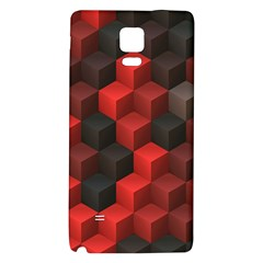 Artistic Cubes 7 Red Black Galaxy Note 4 Back Case