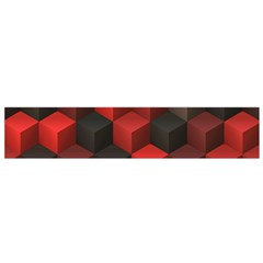 Artistic Cubes 7 Red Black Flano Scarf (Small)