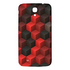 Artistic Cubes 7 Red Black Samsung Galaxy Mega I9200 Hardshell Back Case