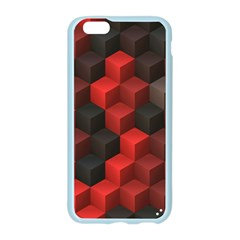 Artistic Cubes 7 Red Black Apple Seamless iPhone 6/6S Case (Color)