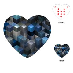 Artistic Cubes 9 Blue Playing Cards (heart)