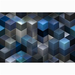 Artistic Cubes 9 Blue Collage 12  X 18