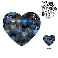 Artistic Cubes 9 Blue Playing Cards 54 (heart)