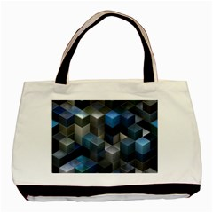 Artistic Cubes 9 Blue Basic Tote Bag (Two Sides)
