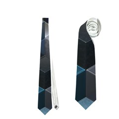 Artistic Cubes 9 Blue Neckties (One Side)