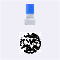 Artistic Cubes 9 Blue Rubber Round Stamps (Small)