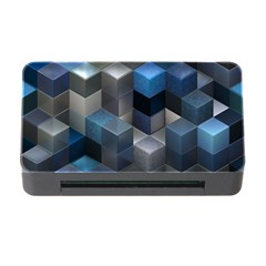 Artistic Cubes 9 Blue Memory Card Reader with CF