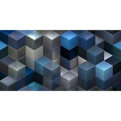 Artistic Cubes 9 Blue YOU ARE INVITED 3D Greeting Card (8x4)