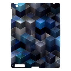 Artistic Cubes 9 Blue Apple iPad 3/4 Hardshell Case