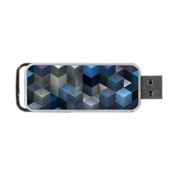 Artistic Cubes 9 Blue Portable USB Flash (One Side)
