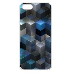 Artistic Cubes 9 Blue Apple iPhone 5 Seamless Case (White)