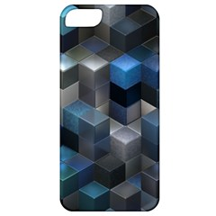 Artistic Cubes 9 Blue Apple iPhone 5 Classic Hardshell Case