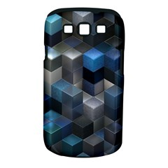 Artistic Cubes 9 Blue Samsung Galaxy S III Classic Hardshell Case (PC+Silicone)