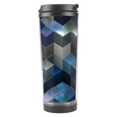 Artistic Cubes 9 Blue Travel Tumblers