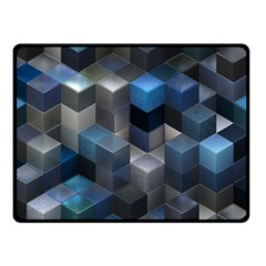 Artistic Cubes 9 Blue Double Sided Fleece Blanket (Small)
