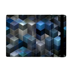 Artistic Cubes 9 Blue Ipad Mini 2 Flip Cases