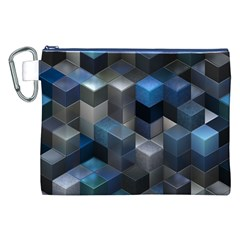 Artistic Cubes 9 Blue Canvas Cosmetic Bag (XXL)
