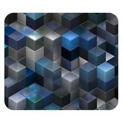 Artistic Cubes 9 Blue Double Sided Flano Blanket (small)