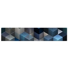 Artistic Cubes 9 Blue Flano Scarf (small)