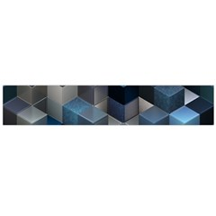 Artistic Cubes 9 Blue Flano Scarf (Large)