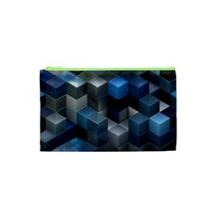 Artistic Cubes 9 Blue Cosmetic Bag (XS)